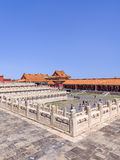 View on majestic pavilion, Palace Museum, Beijing, China Stock Images