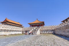 View on majestic pavilion, Palace Museum, Beijing, China Royalty Free Stock Image