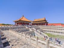 View on majestic pavilion, Palace Museum, Beijing, China Stock Photography