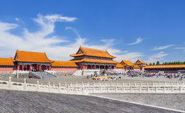 View on majestic pavilion, Palace Museum, Beijing, China Royalty Free Stock Photography