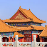 View on majestic pavilion, Palace Museum, Beijing, China Royalty Free Stock Image