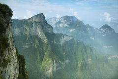 View of majestic peaks of Tianmen mountain Stock Images