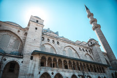 View of the majestic Suleiman Mosque, Istanbul, Turkey. Stock Image
