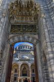 A view of the majestic Suleiman Mosque in Istanbul, Turkey. Turkey, Istanbul, 13,03,2018   A view of the majestic Suleiman Mosque in Istanbul, Turkey Royalty Free Stock Photo