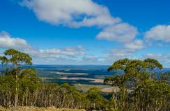 View from Major Mitchell Lookout,Macedon Ranges. Victoria,Australia is a popular tourist attraction Stock Images