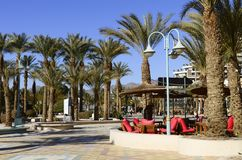 View on major promenade in Eilat, Israel Royalty Free Stock Image