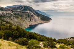 View on Makarska Riviera Coast in the Evening Stock Photography