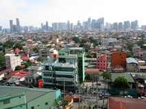 View of Makati towers from Sta. Ana, Manila stock images