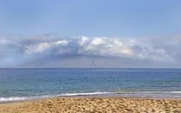View from Makena beach Maui, Hawaii Stock Photos