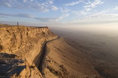 View of Makhtesh Ramon Crater, Negev Desert, Israel Stock Image