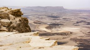 Makhtesh Ramon Crater in Israel stock photo