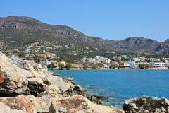 View of Makrigialos, Crete. Royalty Free Stock Photos