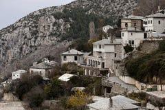 View of Makrinitsa village royalty free stock image