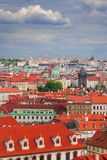 View on Mala Strana and Stare Mesto, Prague. Cityscape of  Prague divided by Vltava river and Charles bridge on Mala Strana and Stare Mesto, Czech Republic Royalty Free Stock Photos