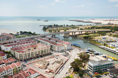 View of the Malacca bird's-eye view, Malaysia Royalty Free Stock Photography