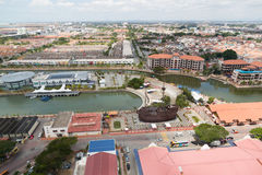 View of the Malacca bird's-eye view, Malaysia Stock Images