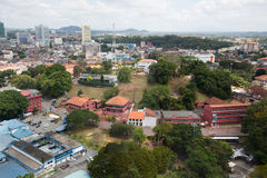 View of the Malacca bird's-eye view, Malaysia Royalty Free Stock Photo