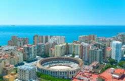 View of Malaga. Royalty Free Stock Images