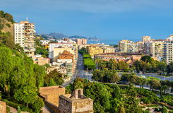 View of Malaga with la Malagueta Bullring. Spain Royalty Free Stock Photography