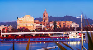 View of Malaga  from Port Stock Image