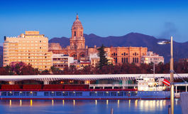 View of Malaga  from Port Royalty Free Stock Photo
