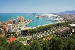 View of Malaga's port Stock Images
