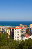 View on Malaga and the sea Stock Photography