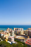 View on Malaga and the sea Stock Photo