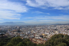 View of Malaga, Spain Royalty Free Stock Images