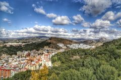 View of Malaga, Spain Stock Images