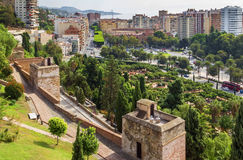 View of Malaga, Spain Stock Photography