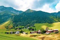 A view of Malbun, ski resort in Liechtenstein stock images