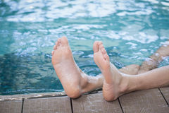 View of male feet Royalty Free Stock Photos