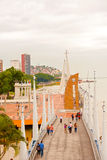 View at Malecon 2000 in Guayaquil,  Ecuador. Guayaquil, Ecuador - April 15, 2016: View at people walking at Malecon 2000. It is the name given to boardwalk Royalty Free Stock Photo