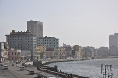 A view of the Malecon, Havana, Cuba. A view of buildings along the Malecon, Havana, Cuba Royalty Free Stock Photo