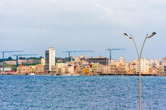 View of the Malecon, Havana, Cuba embankment. Copy space for tex. T Royalty Free Stock Photography