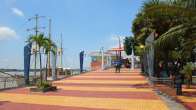 View of the Malecon 2000. This is a project of urban regeneration of the old Malecon Simon Bolivar. Guayaquil, Guayas / Ecuador - September 4 2016: View of the Stock Photography