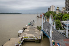 View of Malecon 2000 waterfront promenade - Guayaquil, Ecuador. View of Malecon 2000 waterfront promenade in Guayaquil, Ecuador Royalty Free Stock Image