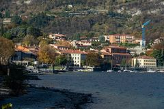View of Malgrate. A nice view of Malgrate city from Malgrate, On the Lake of Como. November 2017. hnnPanorama Stock Images