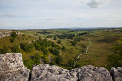 View from Malham Cove Royalty Free Stock Photo