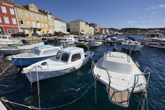 View of Mali Losinj, Croatia. Summer view of the port of Mali Losinj and small boats Stock Photography