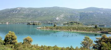 View in Mali Ston, Croatia Royalty Free Stock Images