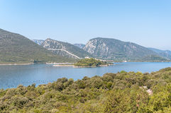 View of the Mali Ston town in Croatia Royalty Free Stock Photo
