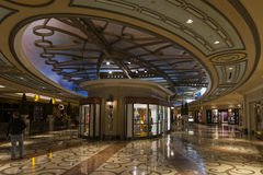 A view of the Mall at the Palazzo hotel. Royalty Free Stock Photography