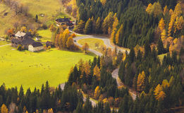 View of a the Mallnitzer Strasse, Austria Stock Images