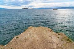 Maloe More on Lake Baikal. Russia. View on Maloe More from Cape Uyuga. Lake Baikal. Russia Stock Photography