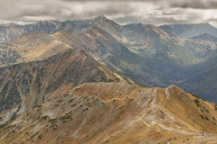View from Malolaczniak - Tatras Mountains.Autumn d Royalty Free Stock Images