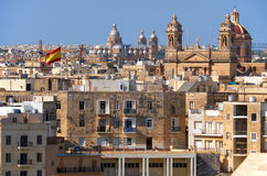 The view of the Malta main churches surrounded by residental hou Royalty Free Stock Photos