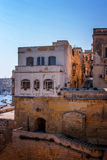 View of maltese street. In Valletta vertical Stock Photography