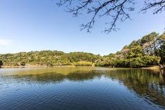View of Malwee Park lake. Jaragua do Sul. Santa Catarina. View od Malwee Park lake. Jaragua do Sul. Santa Catarina, Brazil Stock Photo